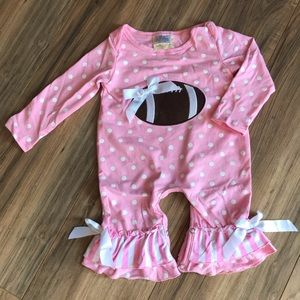 Other - New Boutique Pink Ruffle Football Outfit